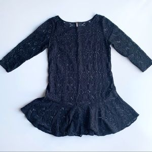 Free People Black Lace Overlay Dress Size 6